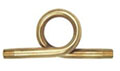 "1/4"" Straight Brass Steam Gauge Siphon Loop"